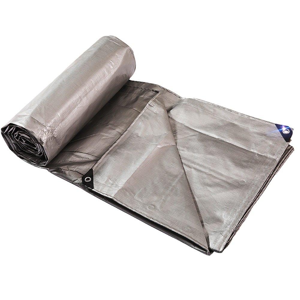 GUOWEI-pengbu ターポリン シェード布 カバー 日焼け止め 防水 不凍液 ポリエチレン 屋外 グレー (色 : Gray, サイズ さいず : 5.8x7.8m) B07FVXMLTN 5.8x7.8m|Gray Gray 5.8x7.8m