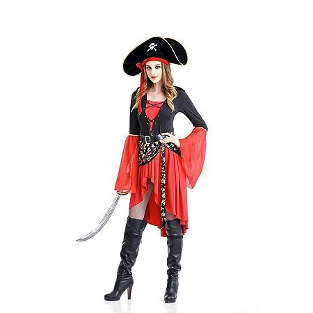 GAOJUAN Traje De Halloween Carnavales Adulto Cosplay Capitán ...