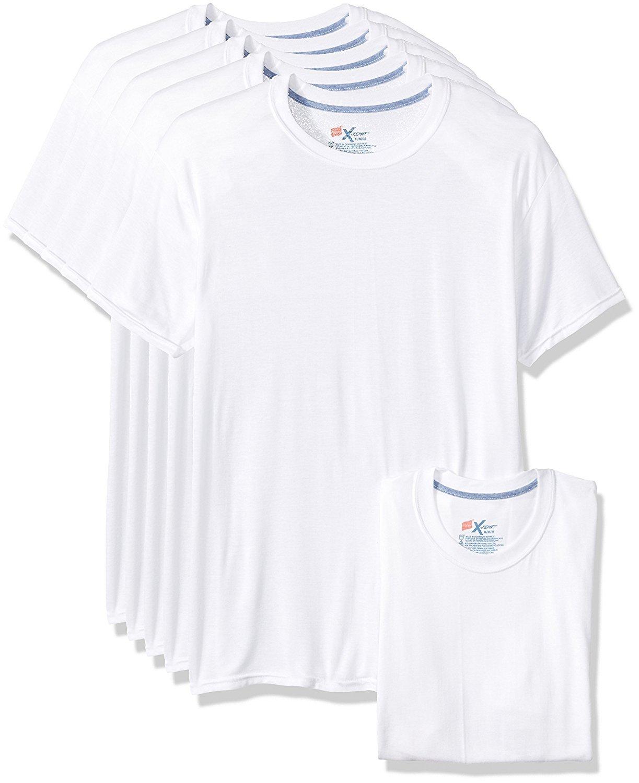 Hanes Men's 5-Pack X-Temp Comfort Cool Crewneck Undershirt (X-Large(46-48), White)
