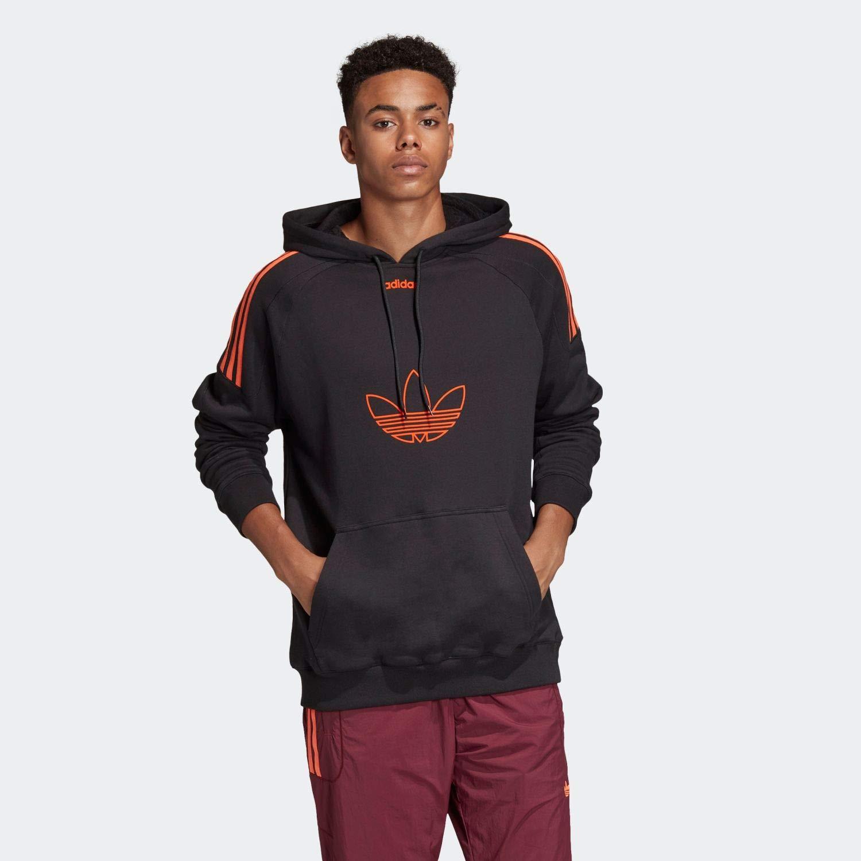 (アディダス オリジナルス) adidas Originals DU8113 FLOCK HOODIE BLACK (O, BLACK)   B07LF6PYX9