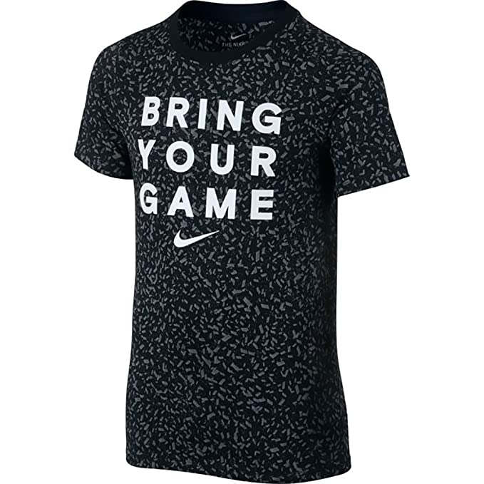 96d0f6c7fe088 Amazon.com: Nike Boys Bring Your Game Basketball T-Shirt: Clothing