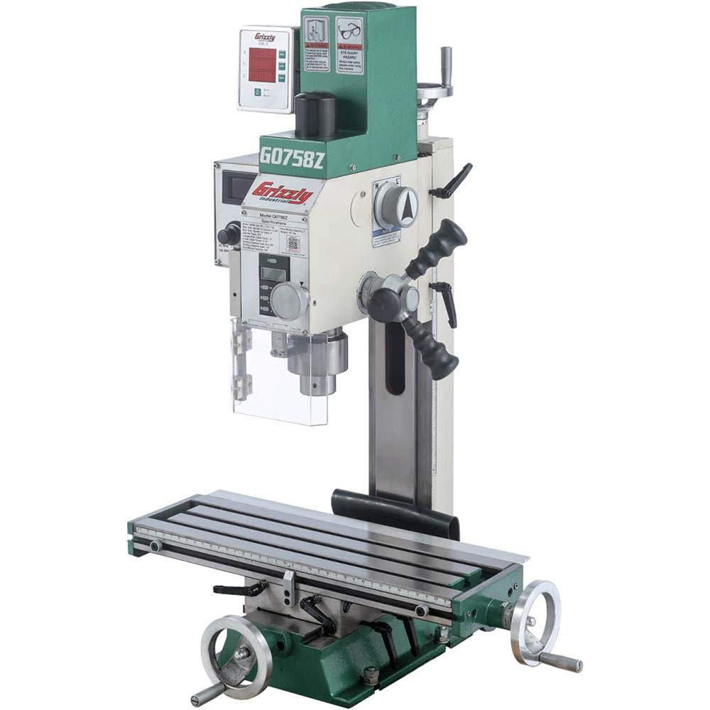 """Grizzly G0758Z - 6"""" x 20"""" 3/4 HP Mill/Drill with DRO"""