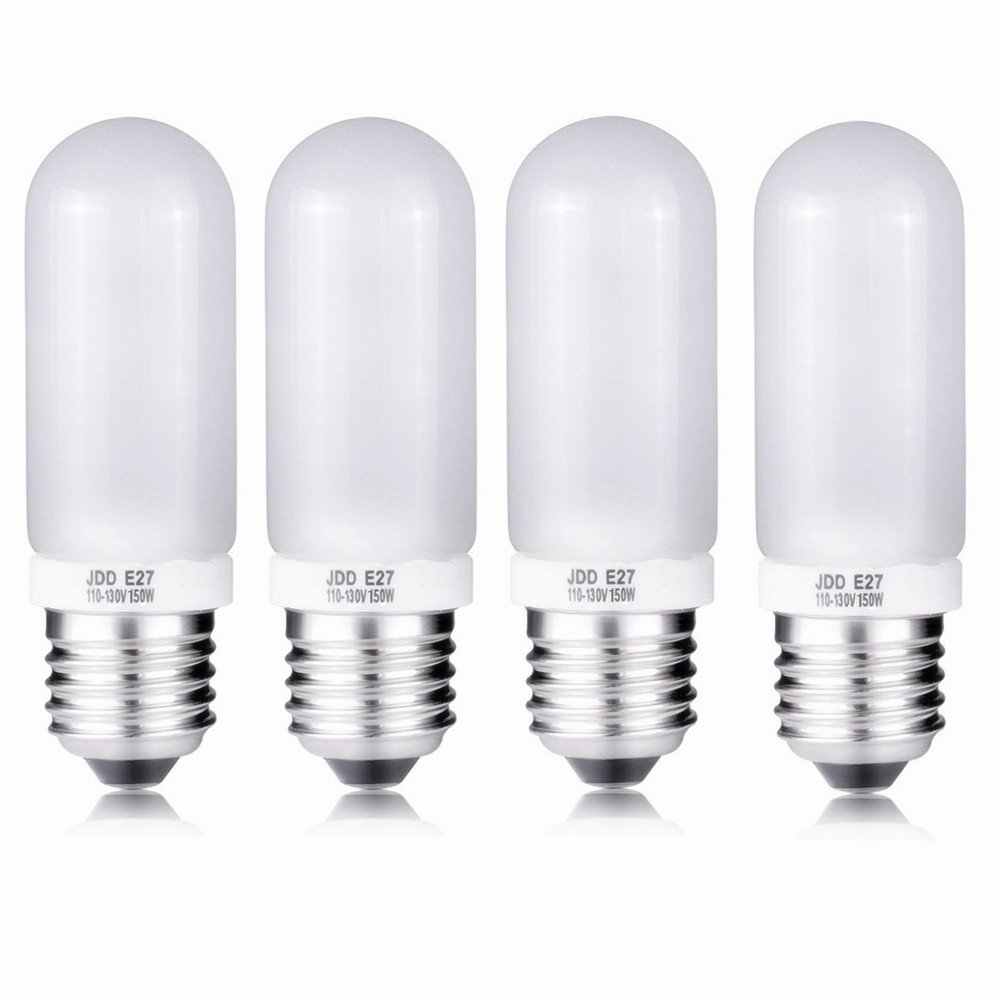 4X 150W Modeling Lamp Bulbs, 110V-130V Frosted Halogen Replacement Light Bulb for Photo Studio Strobe
