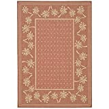 Safavieh Courtyard Collection CY5148A Rust and Sand Indoor/Outdoor Area Rug (2'7″ x 5′) Review