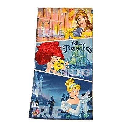 Toalla de baño de Princesas Disney, de microfibra, para niñas (70 x 140