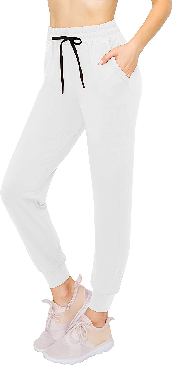 ALWAYS Womens Jogger Pants Lightweight Skinny Solid Soft Stretch Pockets Sweatpants