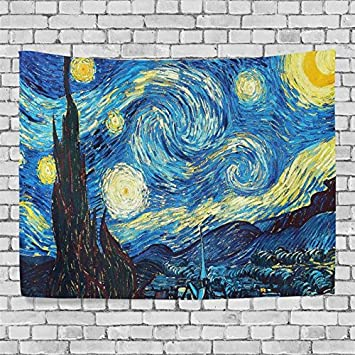 Artpanda Vincent Van Gogh Starry Night Tapestry Famous Artist Oil Painting  Wall Hanging Art For Couches