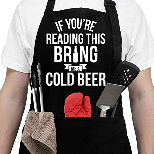 ALIPOBO Grilling Apron KISS The Cook and Bring HIM A Beer Funny BBQ Aprons f
