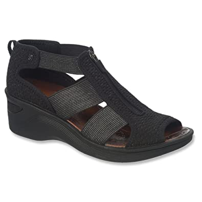 Naturalizer Women's BZees, Duet Mid Heel Sandal Black ...