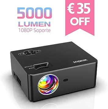Proyector, WiMiUS 5000 Lúmenes Proyector de Cine en Casa Full HD ...