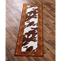 The Lakeside Collection Cow-Hide Look Runner Brown