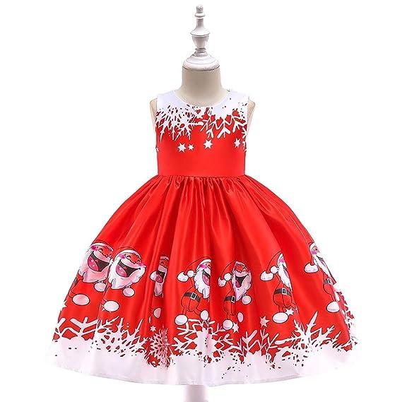Baiomawzh Vestidos para Navidad niñas Bebe, Sin Mangas ...
