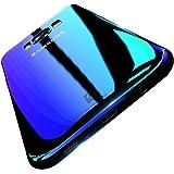 FLOVEME Samsung S8 Custodia Cover PC Clear Gradiente di Colore Affascinante Ultro Sottile Case Posteriore per Samsung S8 Blu
