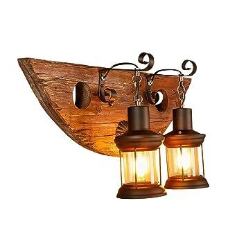 Classic Led Wood Wall Lamps Retro Boat Lights Creative 2