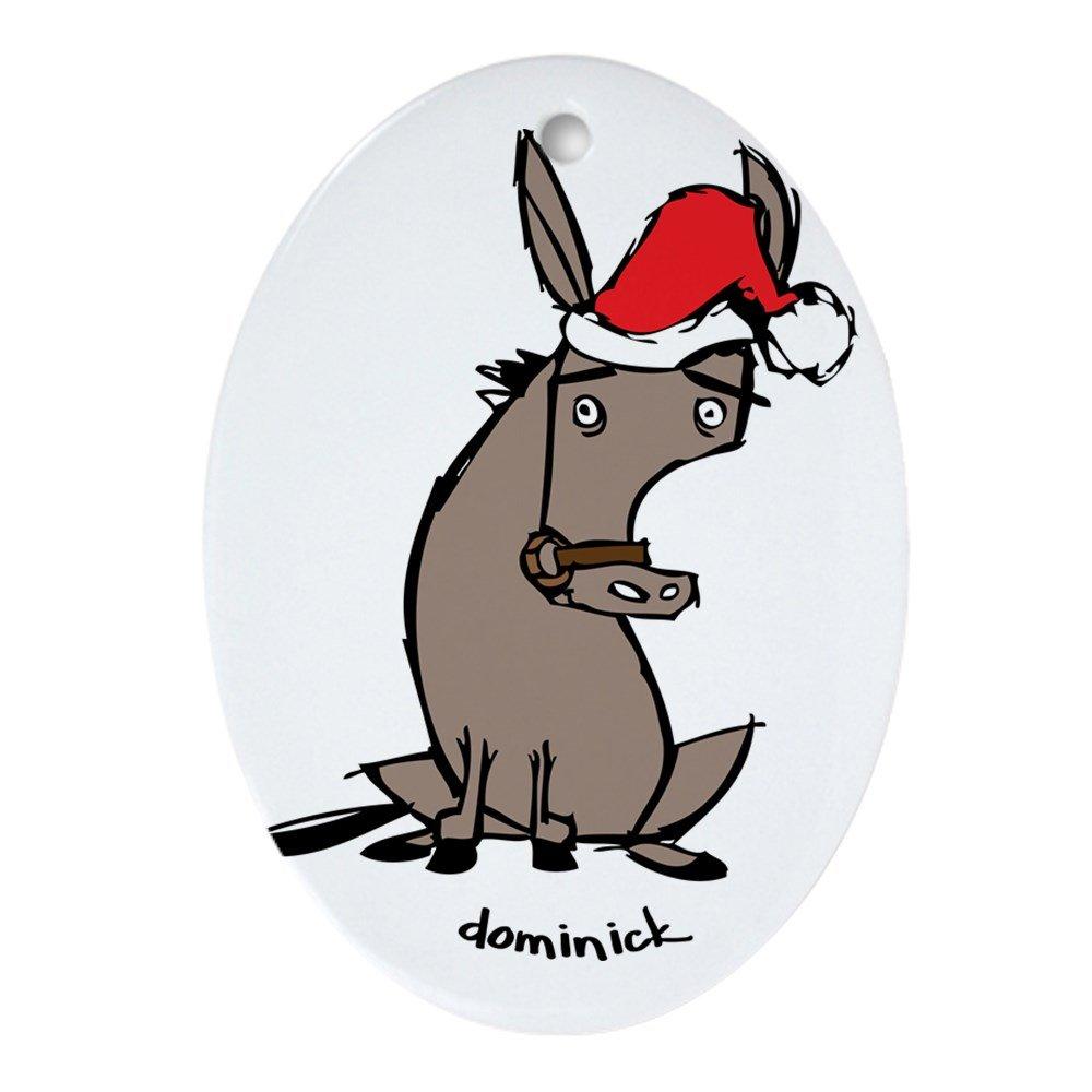 Amazon.com: CafePress - Dominick the Donkey Ornament (Oval) - Oval ...