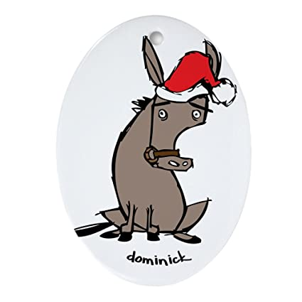 cafepress dominick the donkey ornament oval oval holiday christmas ornament - Dominick The Donkey Christmas Song