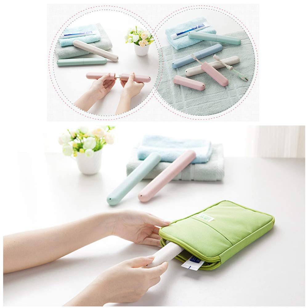 NEXCURIO Portable travel toothbrush holder cases