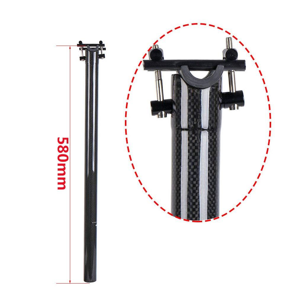 QIKU Folding Bike Full Carbon Seatpost 31.8 580MM Seatpost Ultralight 3K Glossy