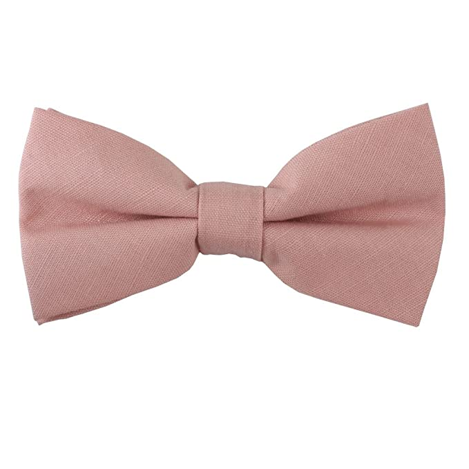 6e691a5eeb41 Image Unavailable. Image not available for. Color: Blush Pink Bow Ties ...