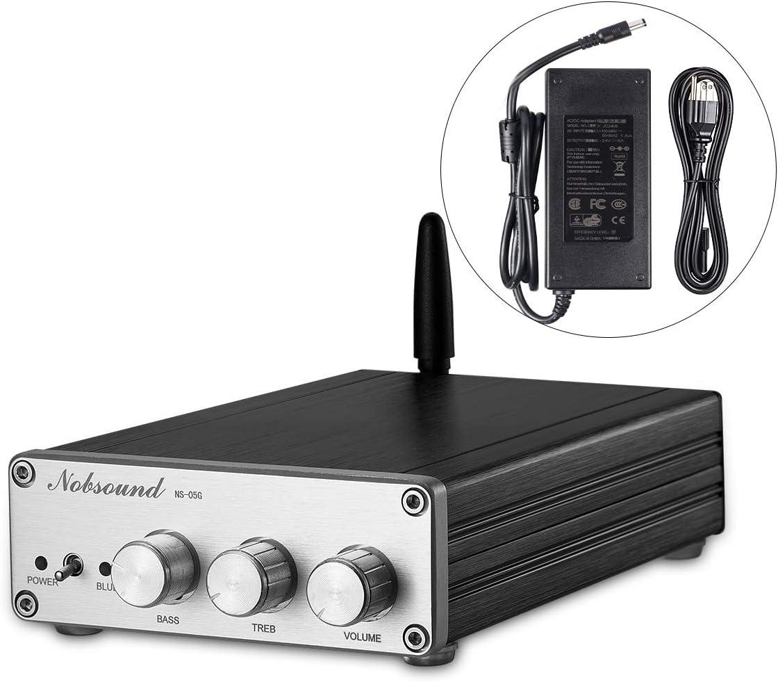 Nobsound Bluetooth 4.0 TAS5613 300W (150W+75W×2) High Power Class D Digital Amplifier; 2.1 Channel Subwoofer Hi-Fi Audio Amp (with Power Supply)