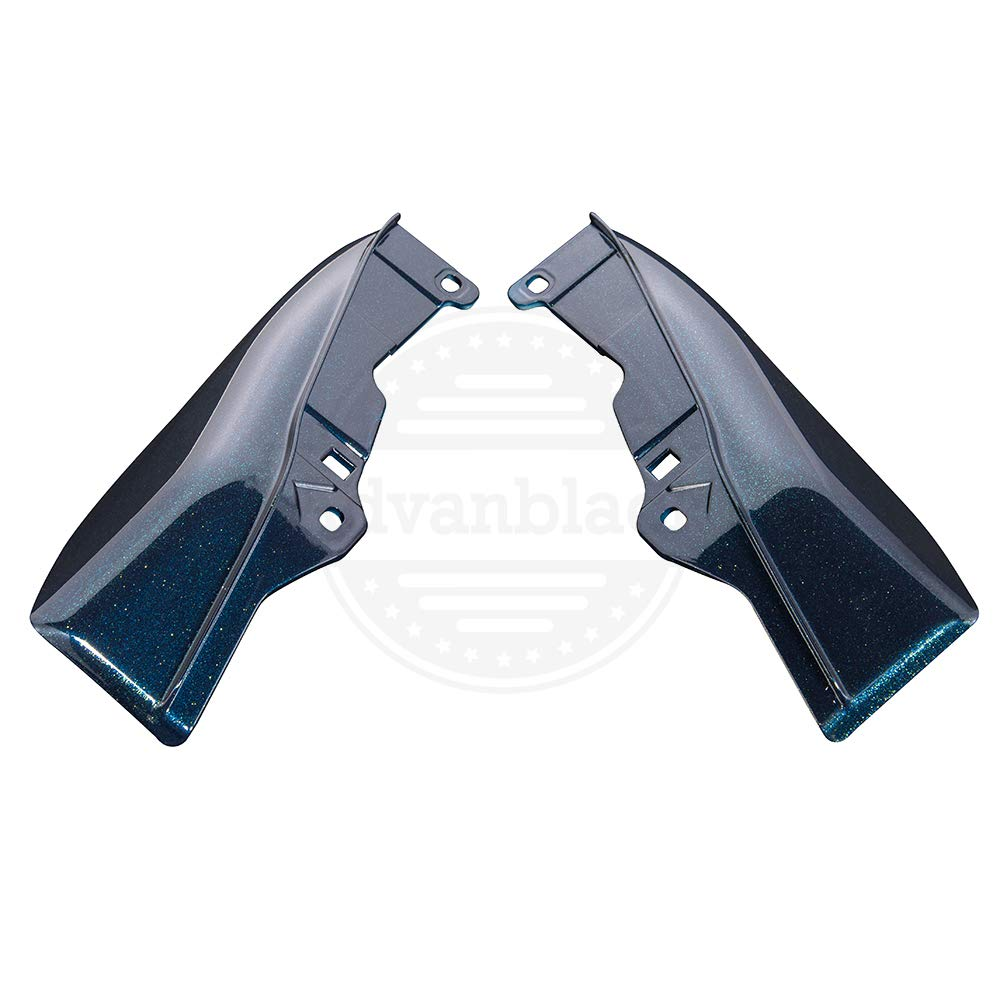 Moto Onfire Advanblack Billiard Blue Mid-Frame Air Deflectors Fit for 2009-2016 Harley Touring Street Road Electra Glide