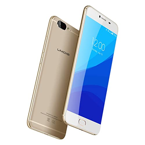 """UMIDIGI Z 5.5"""" 4G Dual SIM Smartphone Deca-core Helio X27 CPU 2.6Ghz 4GB Ram 32GB Rom Android 6.0 (Update Android 7.0) 13MP Rear + Front Camera Front Touch Fingerprint Sensor - Grey/Gold"""