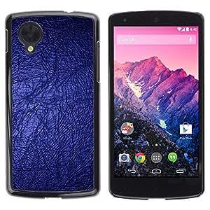Caucho caso de Shell duro de la cubierta de accesorios de protección BY RAYDREAMMM - LG Google Nexus 5 D820 D821 - Blue Wallpaper Bling Bright Dark Design
