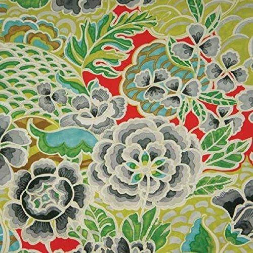 - Waverly Fabrics Zen Garden Earl Grey Fantastic Floral Print