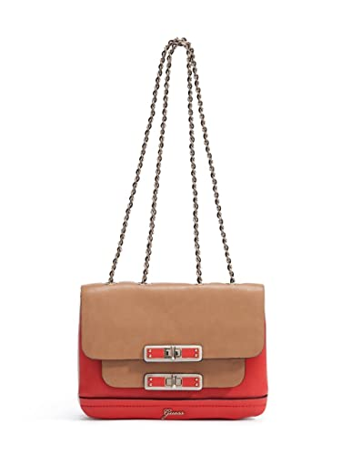 Amazon.com: Guess SIGGI Small Flap Bolso, color rojo Multi ...
