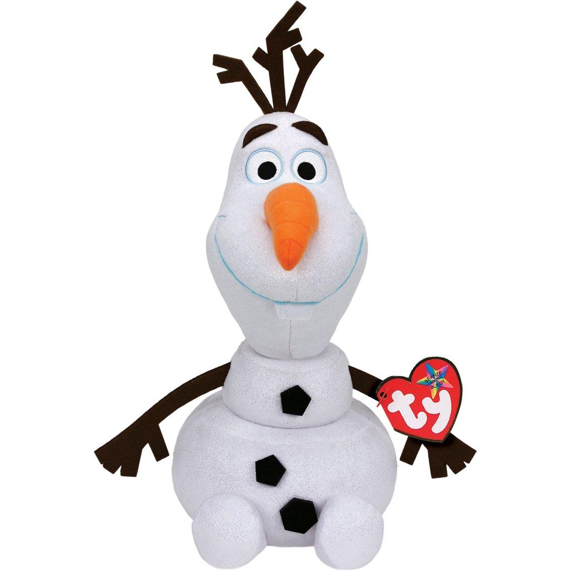 Disney Frozen - Olaf, peluche con sonido, 23 cm, color blanco (TY 90152TY) TY90152