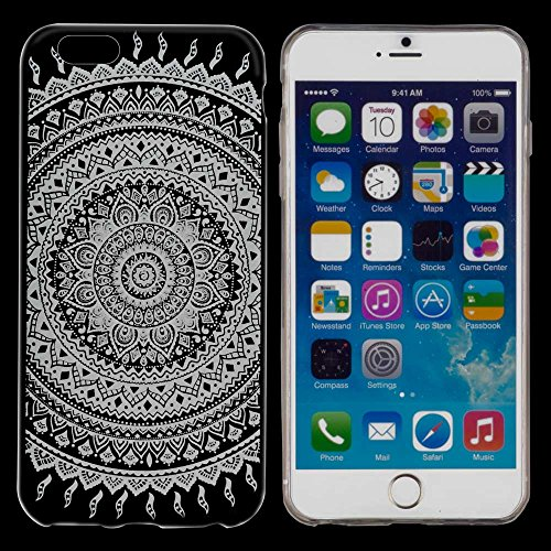 yayago Schutzhülle für Apple iPhone 6 / 6S Hülle Indio Tattoo Transparent