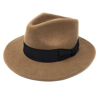 Amazon.com  Cotswold Country Hats Handmade 100% Wool Felt Crushable Indiana  Fedora Hat - Mens Hat  Clothing 2019c4c62fb
