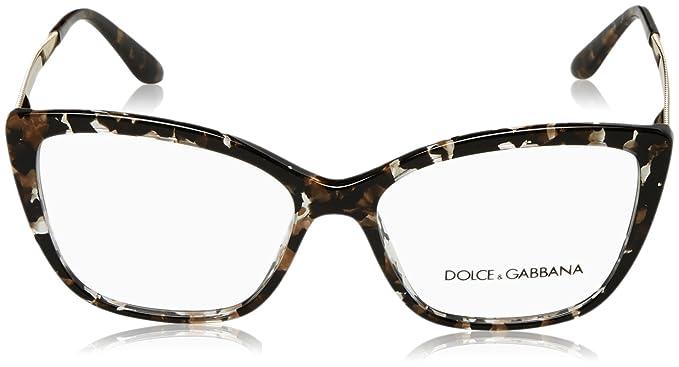 111cbc765b4 Amazon.com  Dolce Gabbana DG3280 Eyeglass Frames 911-54 - Cube Black gold  DG3280-911-54  Clothing
