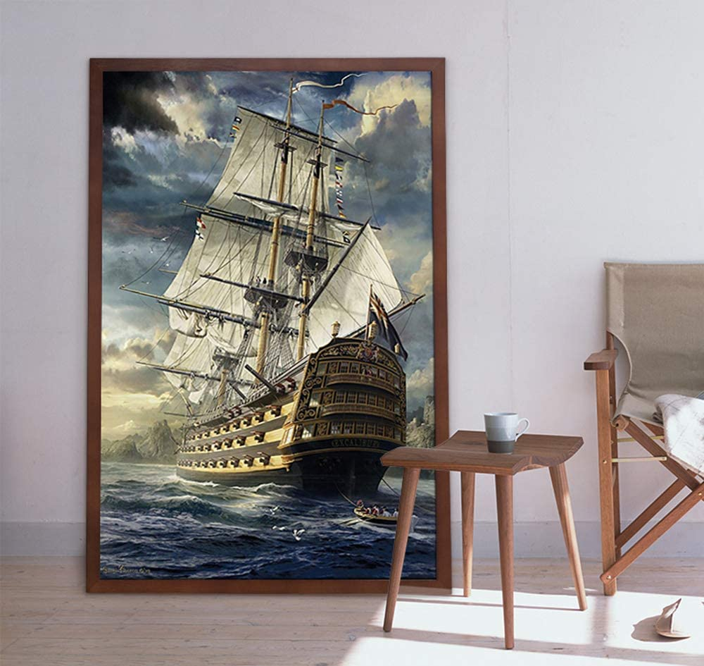 1000 Pieces Puzzles for Adults Jigsaw Puzzles Sailboat to Explore The Sea Challenging Puzzle Large Difficult Puzzles Kids DIY Toys Gift for Home Decor