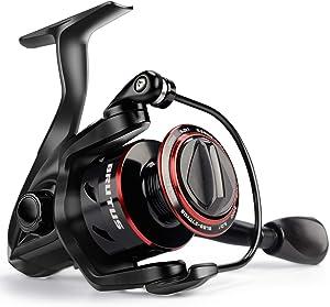 KastKing Brutus Spinning Reel, Freshwater Spinning Fishing Reels, Graphite Frame, CNC Aluminum Spool, 5.0:1 Gear Ratio, 4+1 Ball Bearings.