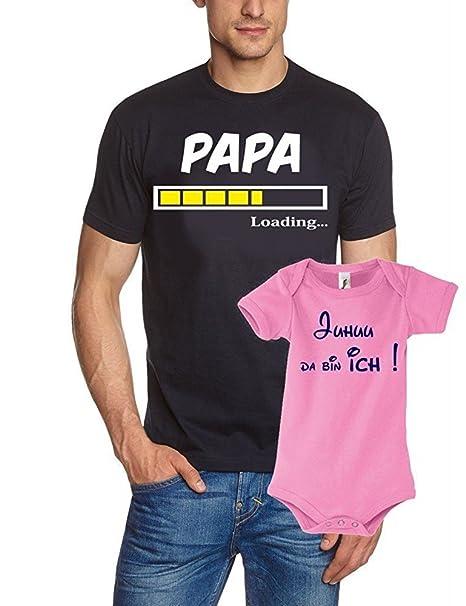 Papa - Camiseta + Pelele En Caja De Regalo - Nacimiento Papá ...