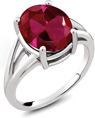 Red Ruby Size 8 Cluster Ring Set in Sterling Silver With 16 Small Ruby Stones