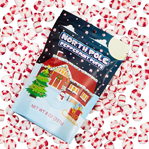 (North Pole Peppermint Puffs Half Pound Of Old Fashioned Giftable Holiday Candy Stocking Stuffer Christmas Gift For Kids Adults Boys Girls Teens)