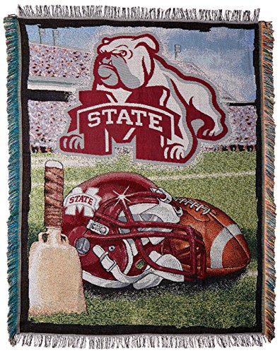 The Northwest Company Officially Licensed NCAA Mississippi State Bulldogs Home Field Advantage Woven Tapestry Throw Blanket, 48