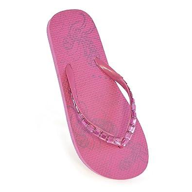 8d72adea9847 DINZIO Ladies Girls FLIP Flops Jewelled Straps  Amazon.co.uk  Shoes   Bags
