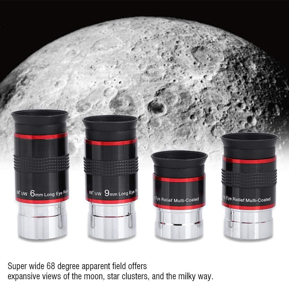 fo sa Eyepieces Set 6 9 15 20mm 1.2568 /° Ultra Wide Angle Astronomy Telescope 4-Piece FMC Eyepiece Kit
