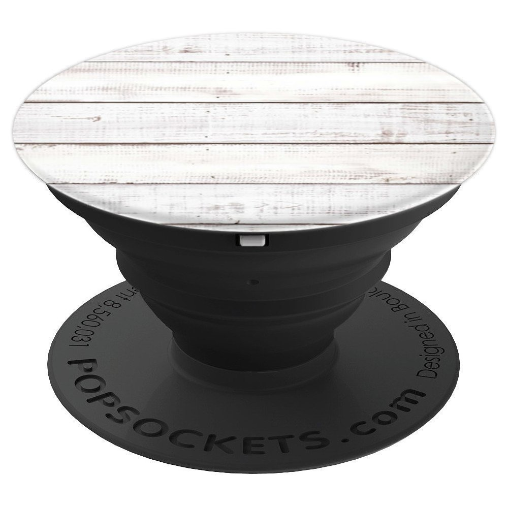 White Vintage Shiplap Weathered Barn Wood Look Texas - PopSockets Grip and Stand for Phones and Tablets
