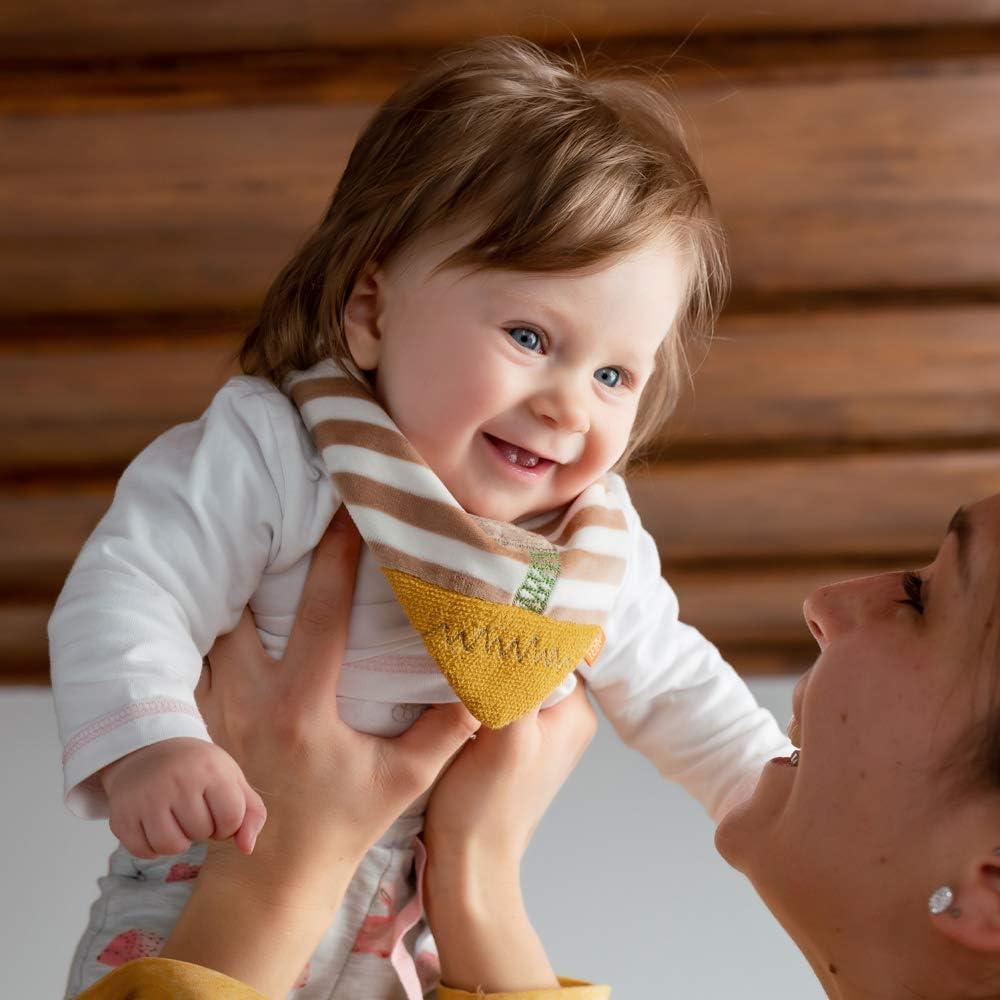 Foulard per bambini da 0 a 12 mesi con grazioso animaletto Fehn 059328