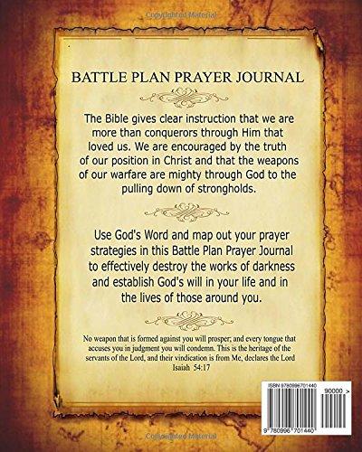Battle Plan Prayer Journal: Prayer Warrior: 9780996701440