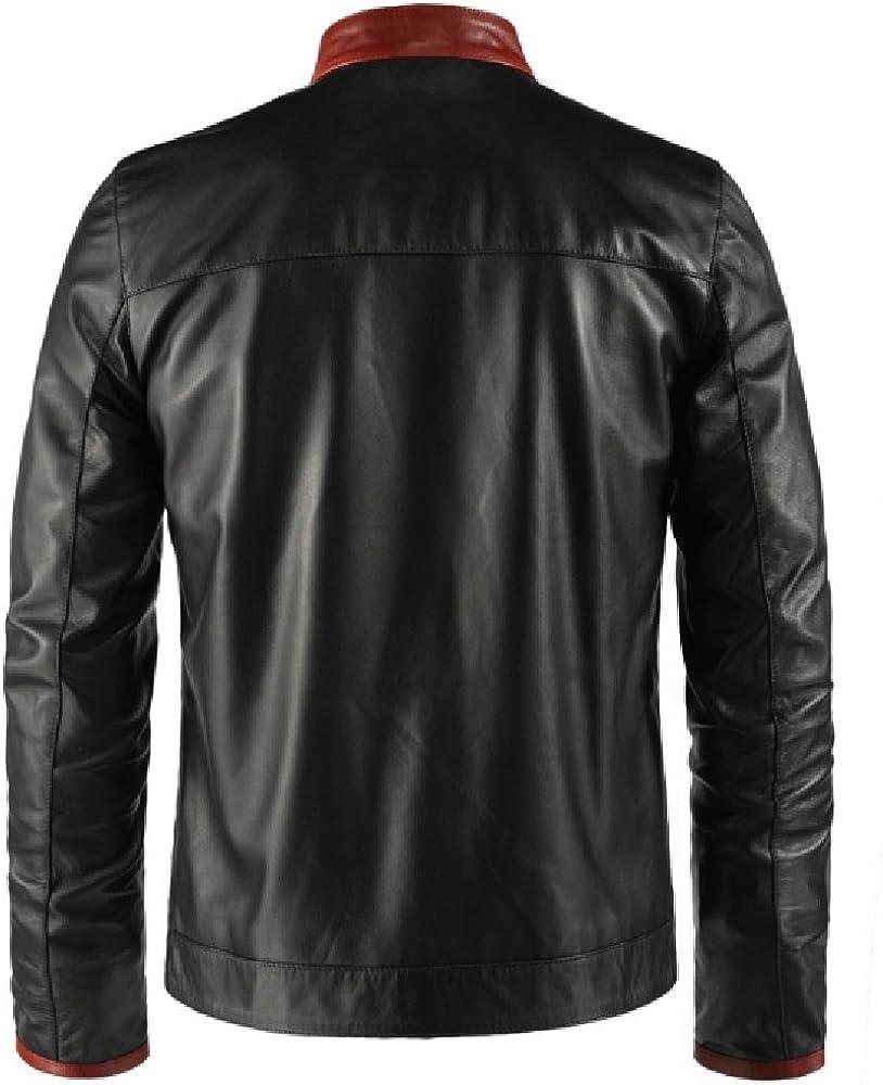 Mens Genuine Premium Leather Western Style Outwear Designer New Jacket