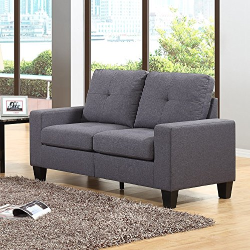Fernanda Grey Fabric Loveseat