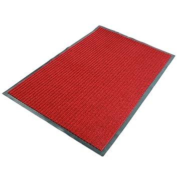 Exceptional Fani Heavy Duty Large Outdoor Indoor Entrance Doormat Red Waterproof Low  Profile Entrance Rug Front Door