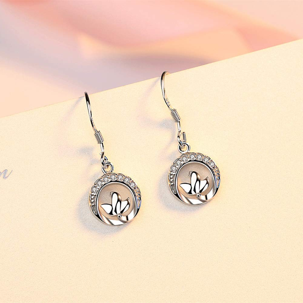 Worry-Free White Gold Plated Polished Flying Pigeon Hook Earrings