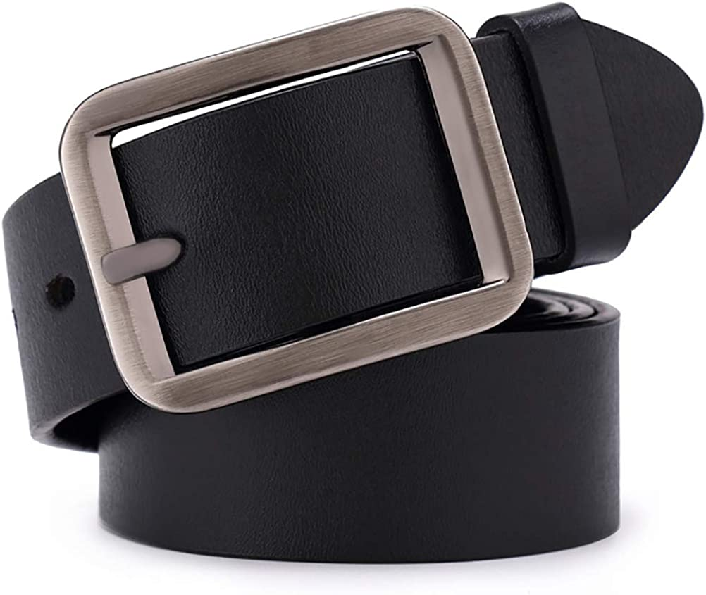 ViewHuge Mens Belt,Leather Dress Belt Classic Casual With Single Prong Buckle