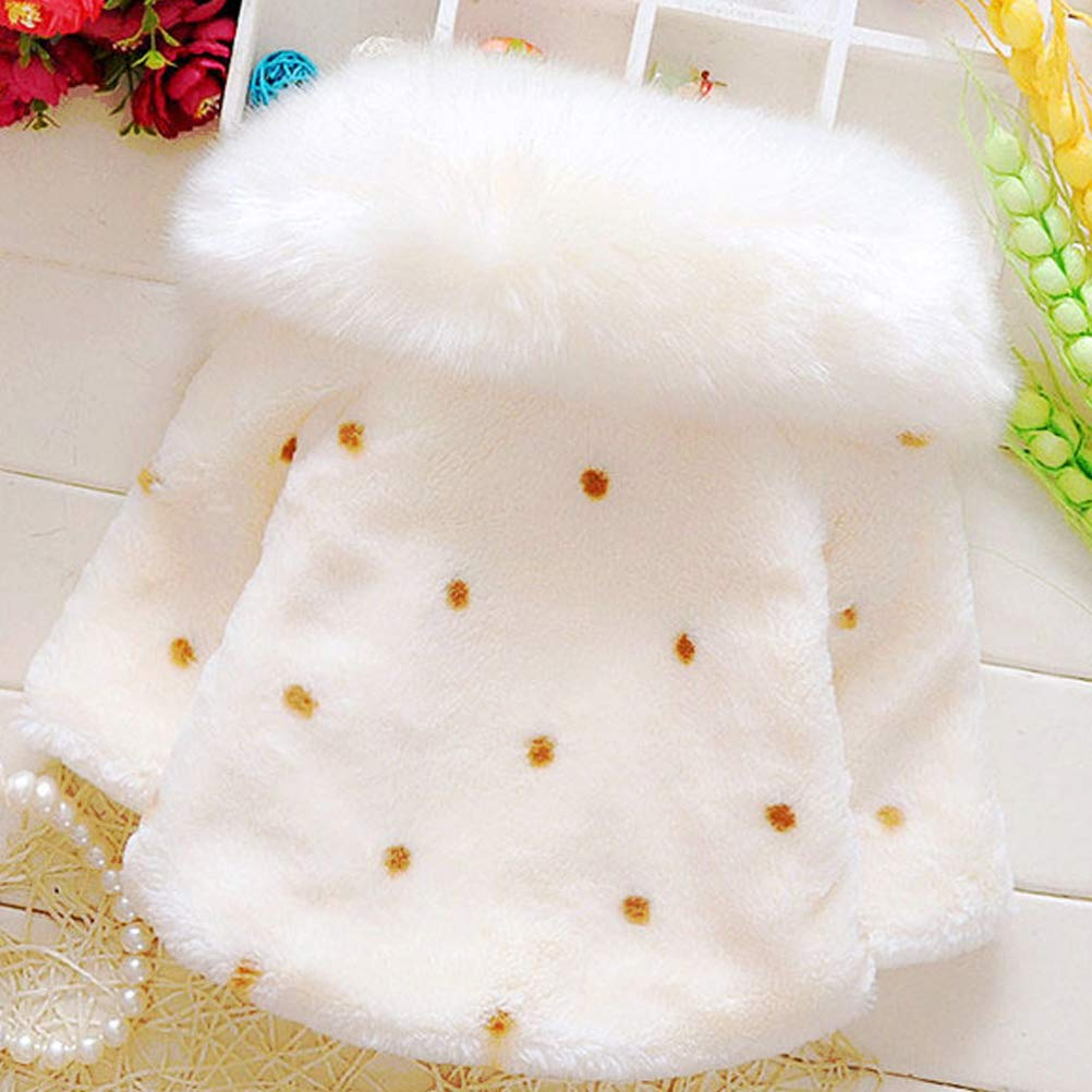 ARAUS Baby Girl Faux Fur Coat Autumn Winter Warm Cloak Cape Outerwear Clothes 0-4 Years